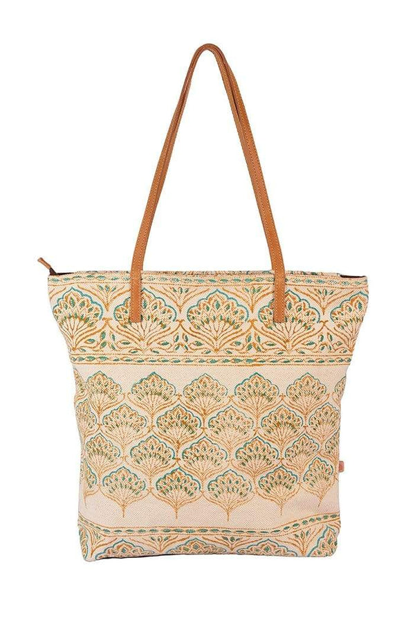 TURK - BLOCK PRINTED TOTE BAG - ART AVENUE