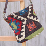 TURKEY- KILIM & LEATHER SLING BAG - ART AVENUE