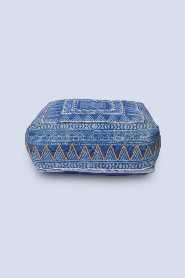 TURN - CUBICAL POUF-INDIGO - ART AVENUE