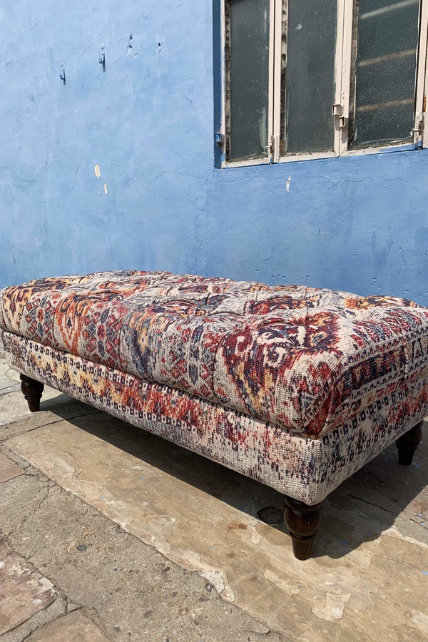 UDAIPUR COFFEE TABLE OTTOMAN - CHESTERFIELD - ART AVENUE