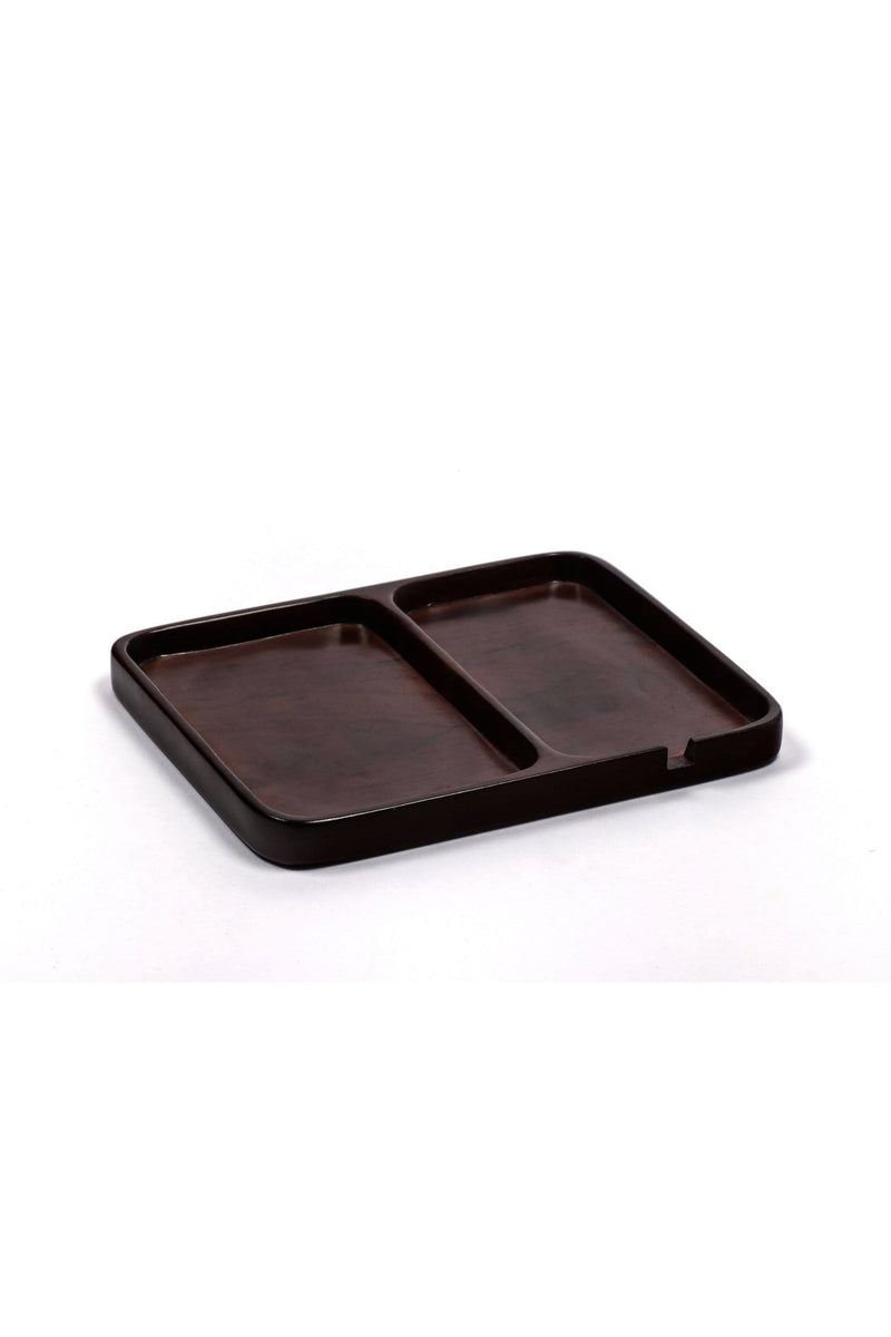 VAGARY - WOODEN TRAY - DARK BROWN POLISH - ART AVENUE