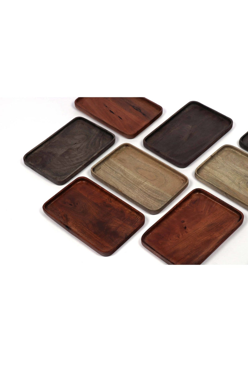 VALID - WOOD TRAY - NATURAL BROWN/ GREY/ BLACK POLISH - ART AVENUE