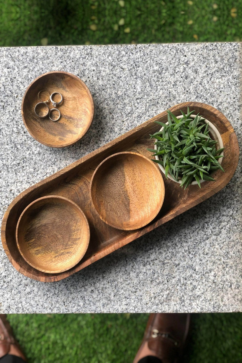 VALLEY - WOOD TRAY - NATURAL POLISH - ART AVENUE