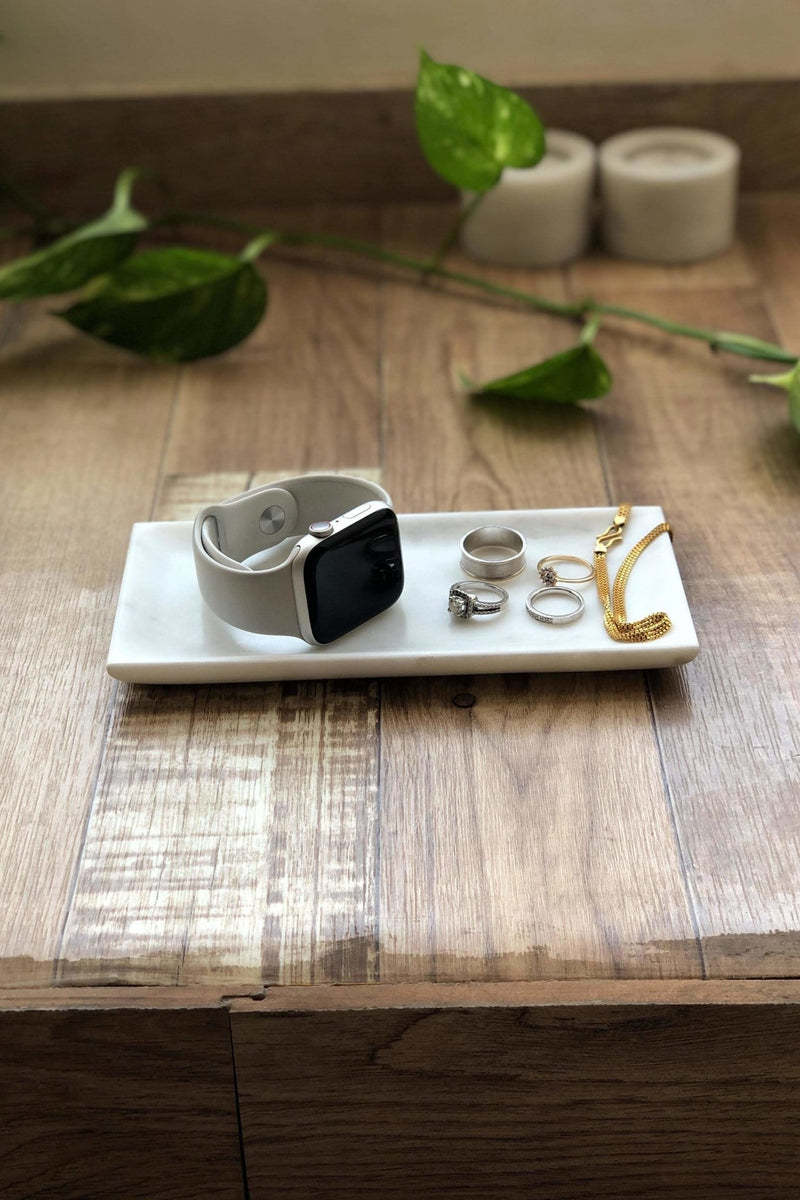 VERDANT - MARBLE TRAY - WHITE - ART AVENUE