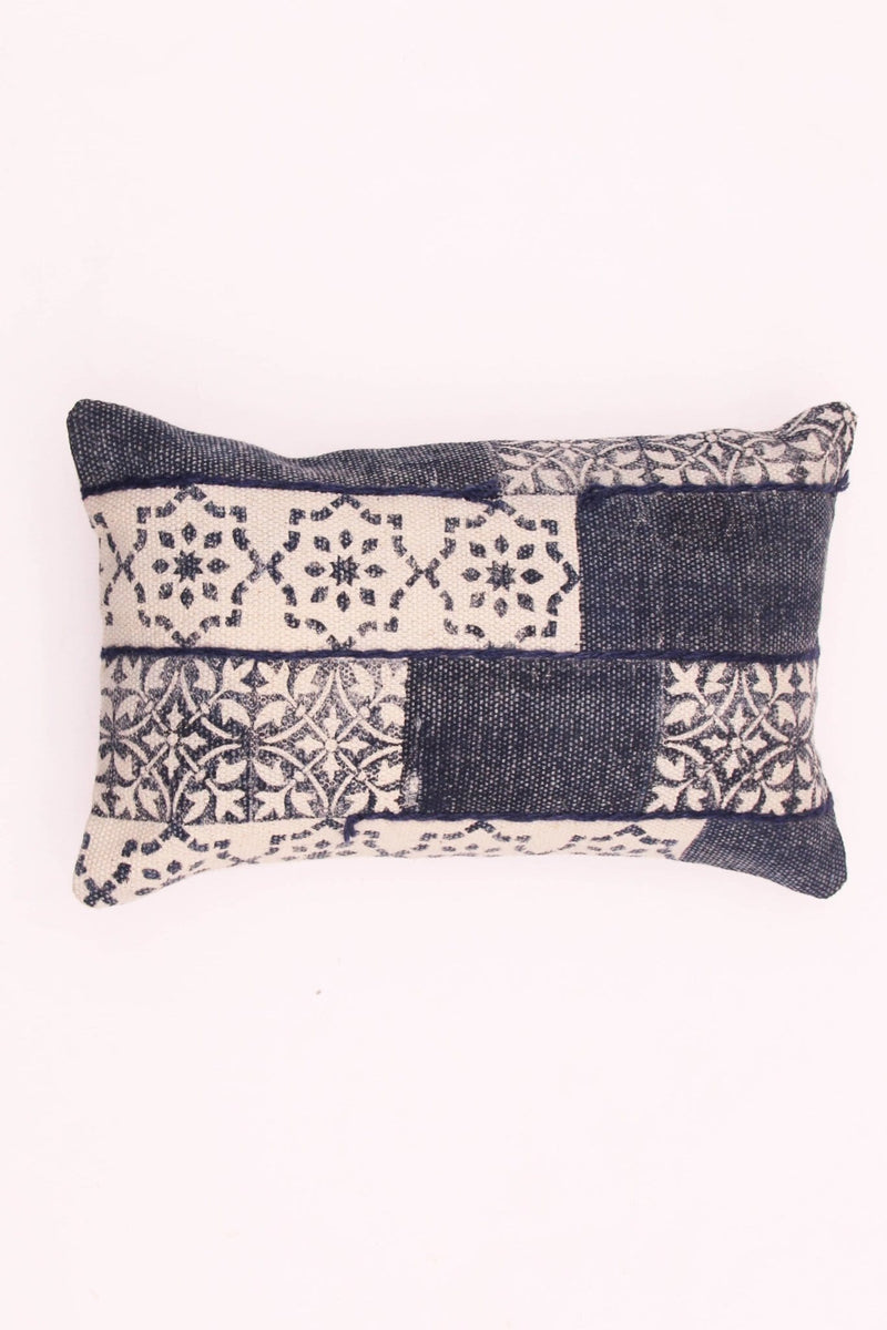 WARSAW - LUMBAR CUSHION COVER - NAVY BLUE - ART AVENUE