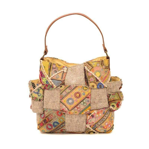 WINKED - VINTAGE FABRIC PATCHWORK HAND BAG - ART AVENUE