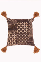 WOOD - SQUARE CUSHION COVER -BROWN - ART AVENUE