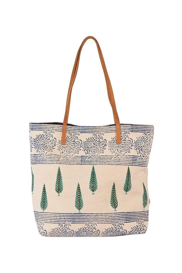 ZINK - BLOCK PRINTED TOTE BAG - ART AVENUE