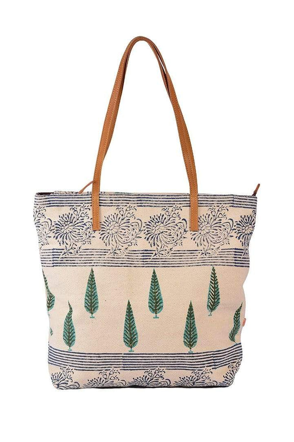 ZOIC - BLOCK PRINTED TOTE BAG - ART AVENUE