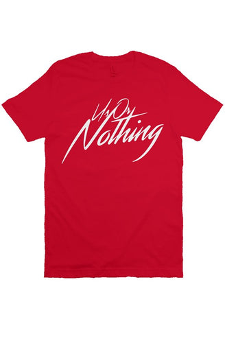Us Or Nothing Logo (Red T Shirt)