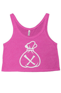 Money Bag Logo (Neon Pink flowy boxy tank top)