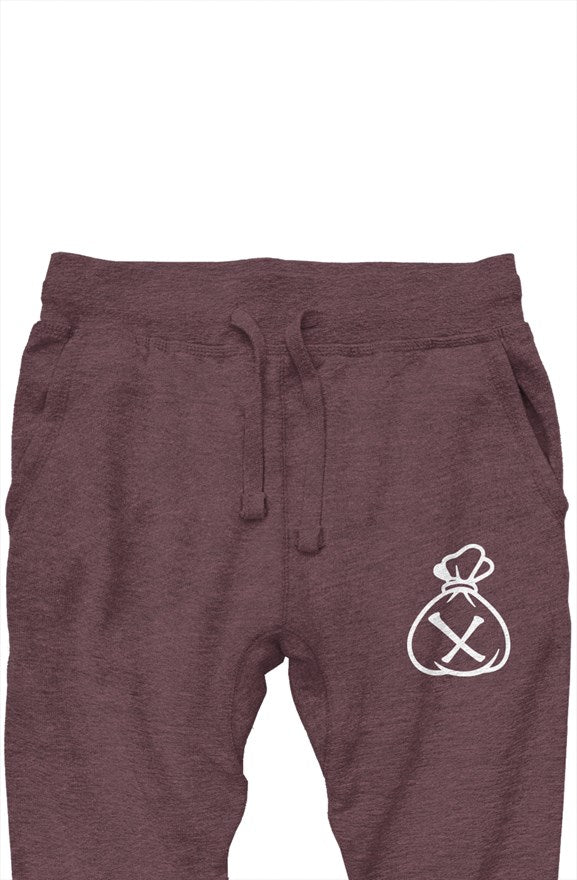 Money Bag Logo (Heather wine premium joggers)