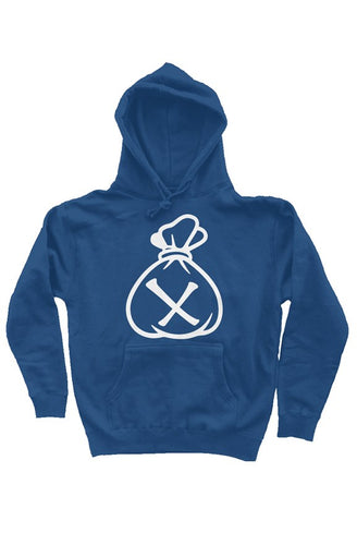 Money Bag Logo (Royal Blue Heavyweight Pullover Hoodie)