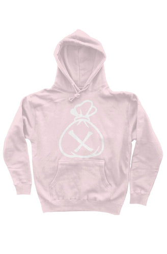 Money Bag Logo (Pink Heavyweight Pullover Hoodie)