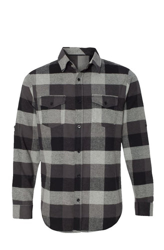 Long Sleeve Flannel Grey And Black