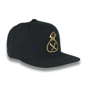 Black & Gold Money Bag (Snapback)