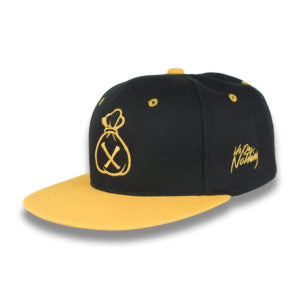 Black & Yellow Money Bag (Snapback)