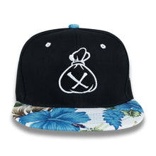Load image into Gallery viewer, Black & White Money Bag (Blue Snapback)