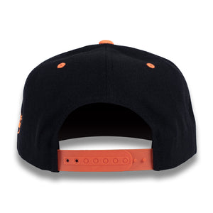 Black & Orange Money Bag (Snapback)