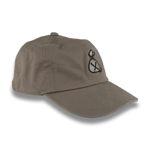 Khaki & Black Money Bag Dad Hat (Strapback)