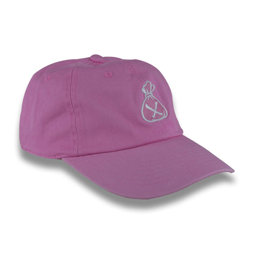 Pink & White Money Bag Dad Hat (Strapback)