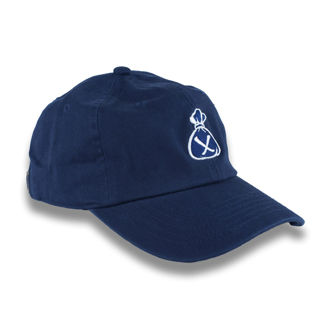 Blue & White Money Bag Dad Hat (Strapback)