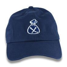 Load image into Gallery viewer, Blue & White Money Bag Dad Hat (Strapback)