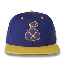 Load image into Gallery viewer, Purple & Gold Money Bag (Snapback)