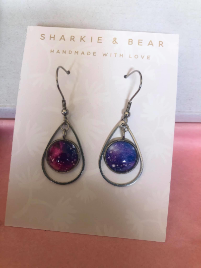 Galaxy Inspired Drop Studs