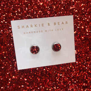 Chunky Glitter Studs - Single Set