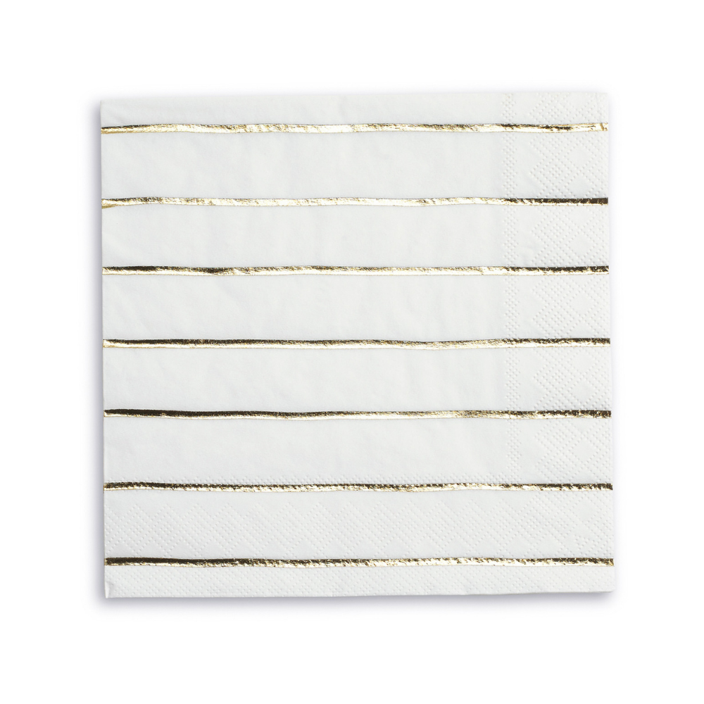 Frenchie Striped Gold Napkins