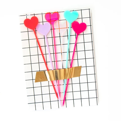 Heart Drink Stirrers and Dessert Kebob Skewers