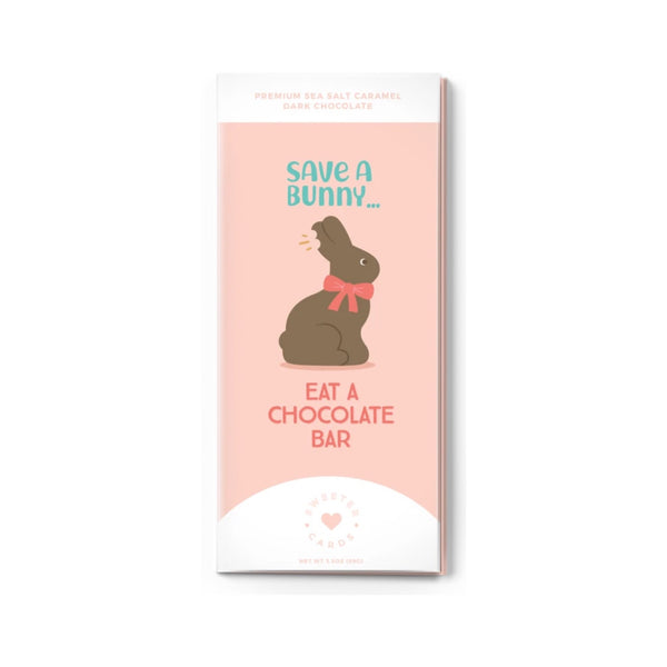 Easter Card + Chocolate Bar - Save a Bunny!