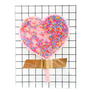 Confetti Filled Heart Acrylic Cake Topper