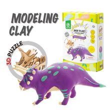 Load image into Gallery viewer, DIY Wood and Clay Model Triceratops