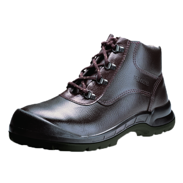 KWD901KX  - Brown High Cut Safety Shoes With Steel Toe Cap