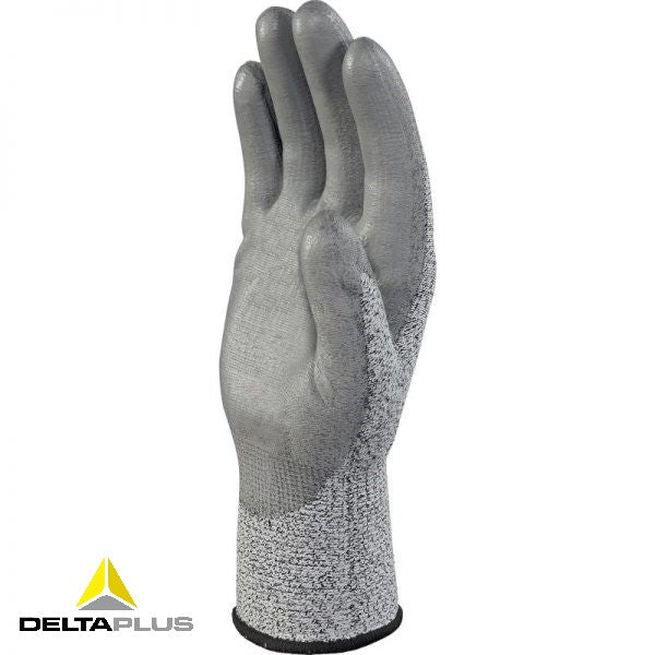 VENICUT34 - KNITTED ECONOCUT GLOVE - PU COATED PALM - GAUGE 13