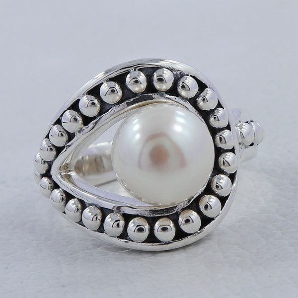 Pearl Ring - Buy Latest Design of Pearl Ring Online