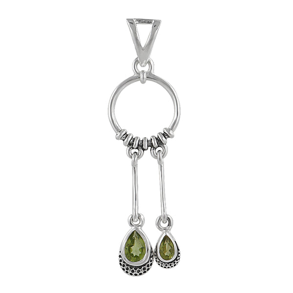 Peridot Silver Pendant Set at Best Price