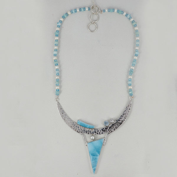 The Spirit of Water - Blue Exclusive Sterling Silver Larimar Necklace
