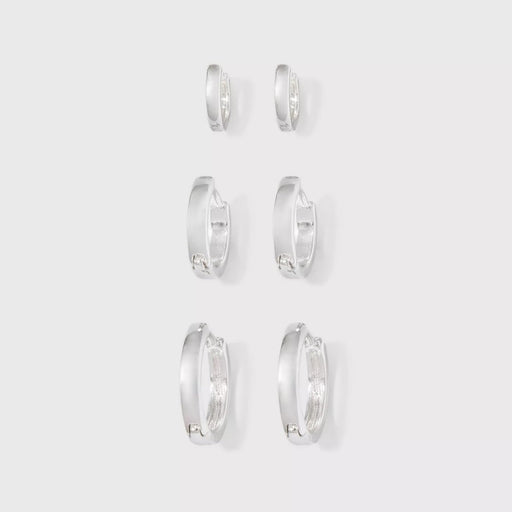 A New Day Small Hoop Earrings Silver - Best By