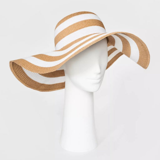 A New Day Women's Floppy Hat Tan & White One Size - Best By