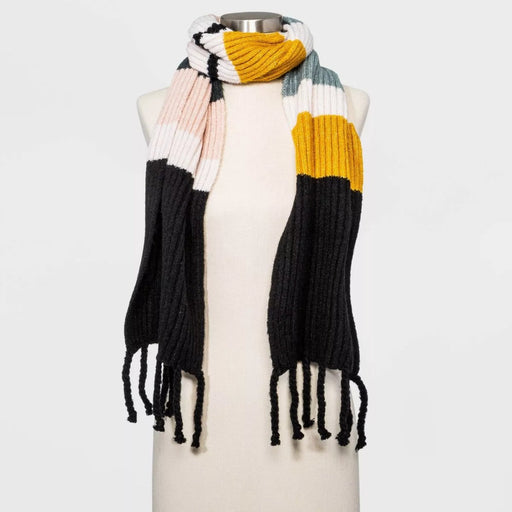 A New Day Women's Striped Multi Stripe Scarf One Size - Best By