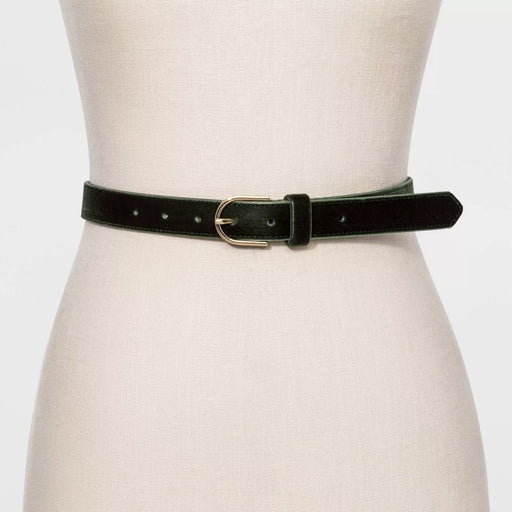 A New Day Women's Velvet Belt Olive Medium - Best By