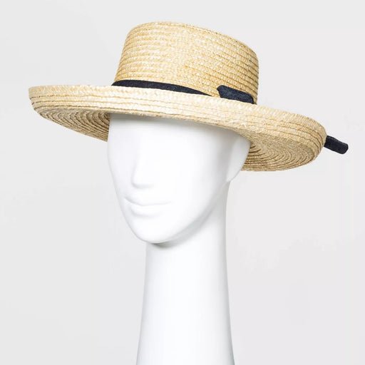 A New Day Women's Wheat Straw Kettle Hats Natural One Size - Best By