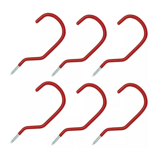 Arrow Vinyl Storage Hooks Red 6pk - Best By