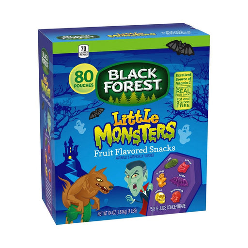 Black Forest Little Monsters Fruit Snacks 80ct 2pk - Best By