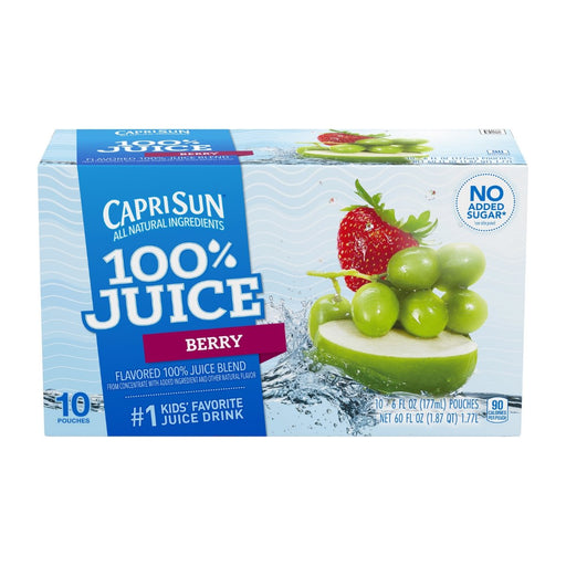 Capri Sun Berry Flavored Juice Drink Blend 10ct 6oz - Best By