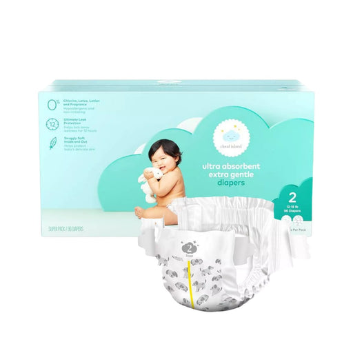 Cloud Island Club Pack Diapers Size 2 96ct - Best By