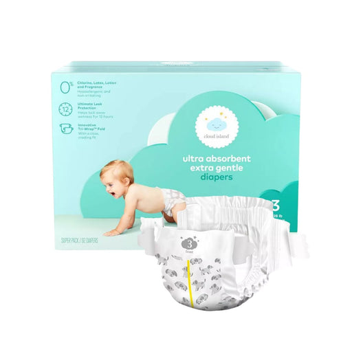Cloud Island Club Pack Diapers Size 3 92ct - Best By